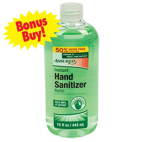 Assured Hand Sanitizer With Aloe 11 2 Oz Refill Bottles Hand