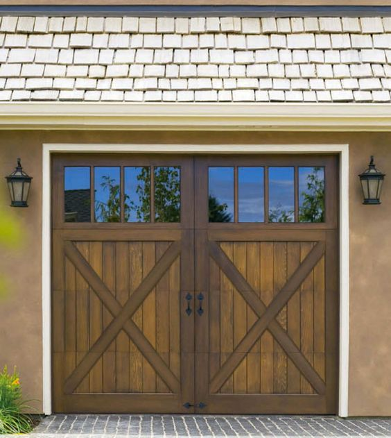Style Wood Garage Doors And Garage Ideas On Pinterest
