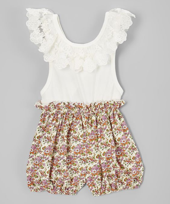 Lavender Floral Country Girl Romper - Toddler & Girls by Just Couture #zulily #zulilyfinds