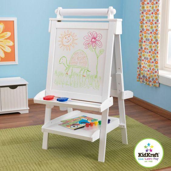 Laat de creativiteit de vrije loop met deze KidKraft schildersezel voor kinderen! #meubeldeco #schilderen. Prijs: € 134,95.
