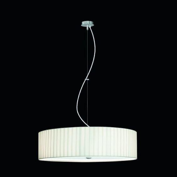 Elegantes Pendel mit gewickeltem Chintz-Schirm - Made in Germany - Ø 65 cm 65,00 cm