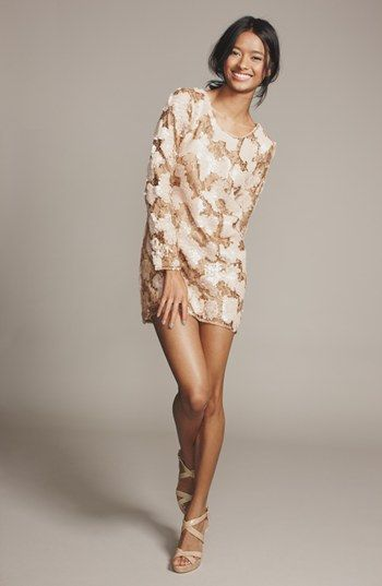 Women&-39-s Dress the Population &-39-Casandra&-39- Sequin Shift Dress - The o ...