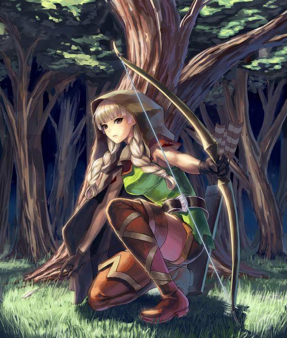 Arqueiros,anime,archer,art,elfo
