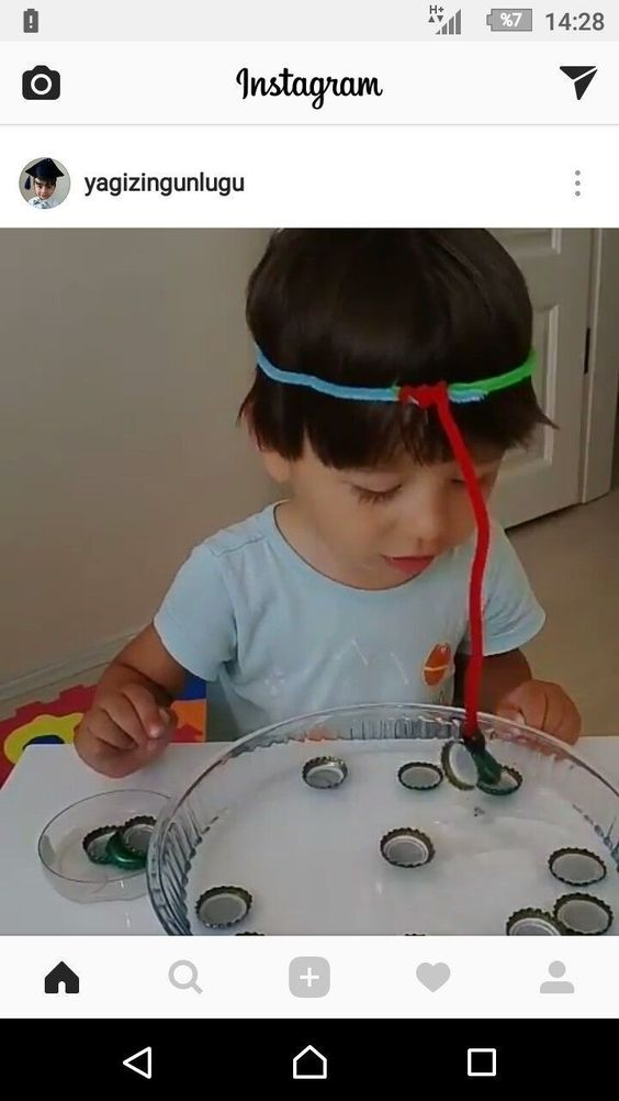 Fun Magnetic challenge for your little one. - #challenge #FUN #Magnetic