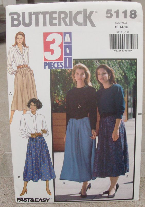 1990 Uncut Butterick Pattern 5118 Misses by lovelylovepatterns, $3.50