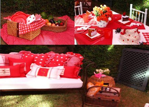 vermelho...branco, almofadas e regadores