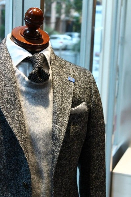 Here's a great tonal grey combo sure to leave you overheated in under five minutes.