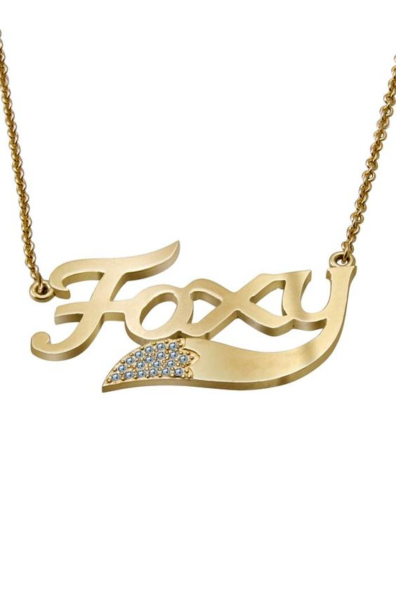 Foxy Nameplate Necklace