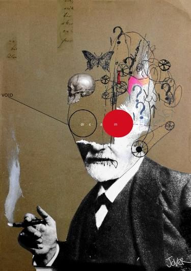 "Saatchi Art Artist LOUI JOVER; Collage, ""Freudian Slip _ as requested"" #art"