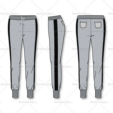 Awesome Womenu0026#39;s Utility Jogger Pants Fashion Flat Template U2013 Illustrator Stuff