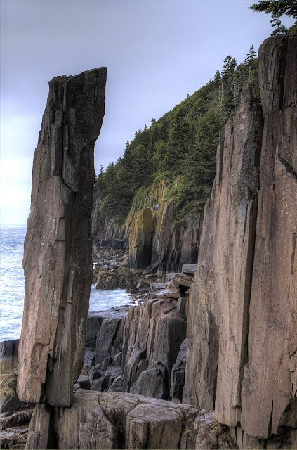 Balancing Rock - St. Mary's, Nova Scotia: