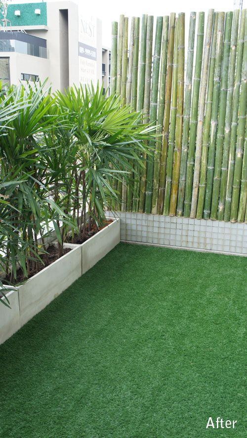 Balcony With Fake Grass Artificial Turf
