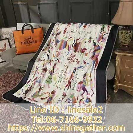 エルメス パットセット お洒落 ロゴ Hermes ベッド布団カバー 夜具カバー 寝具 洗濯可 インテリア用品 高級 上品 布団カバーセット 毛布 ブランケット
