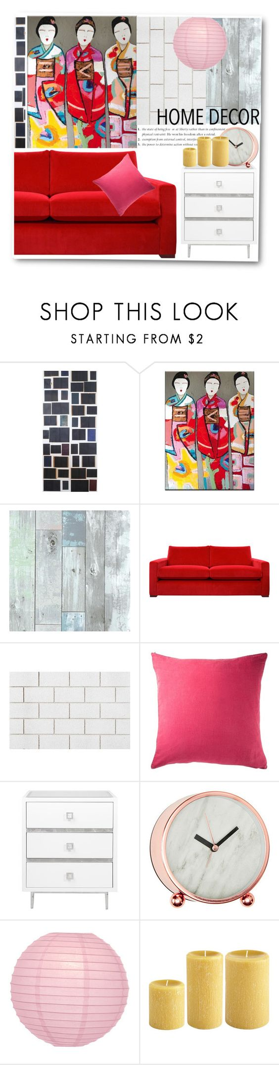 """Geisha print"" by gul07 ❤ liked on Polyvore featuring interior, interiors, interior design, home, home decor, interior decorating, Eka, CB2 and Cultural Intrigue"