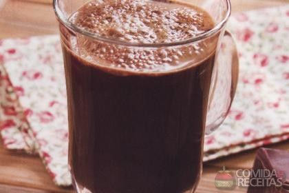 Receita de Cappuccino cremoso de chocolate com canela - Comida e Receitas