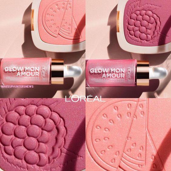 New Upcoming Fruity Loreal Collection Glow Mon Amour Powder Blushes Highlighting Drops Launching Lorealmakeup Loreal Glow Blush