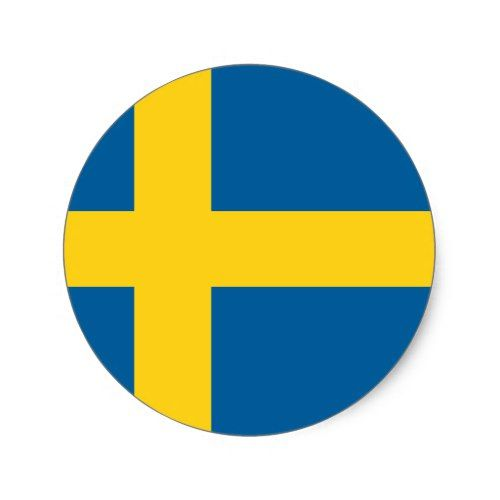 Flag Of Sweden Classic Round Sticker Zazzle Com Sweden Flag Custom Stickers Round Stickers