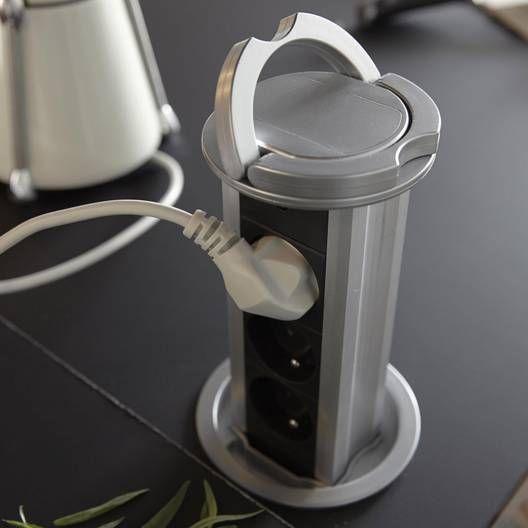 Bloc Encastrable Filaire 3 Prises Noir Zenitech Leroy Merlin Multiprise Multiprise Design Prise Electrique Encastrable