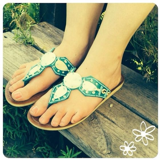 Beautiful Yoa Sandals Only worn once. In great condition! Size 7. Yoa sandals teal with shell and beadwork. Alternative price offers are welcomed :) Yoa Shoes Sandals