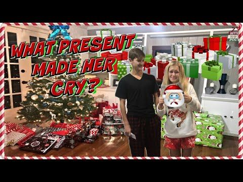 Christmas Morning 2017 Opening Presents What Present Made Her Cry Youtube Presents Christmas Morning Christmas Fun