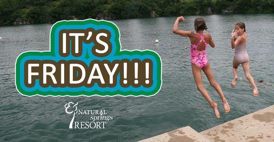 Happy Friday! #TGIF #camping #naturalspringsresort