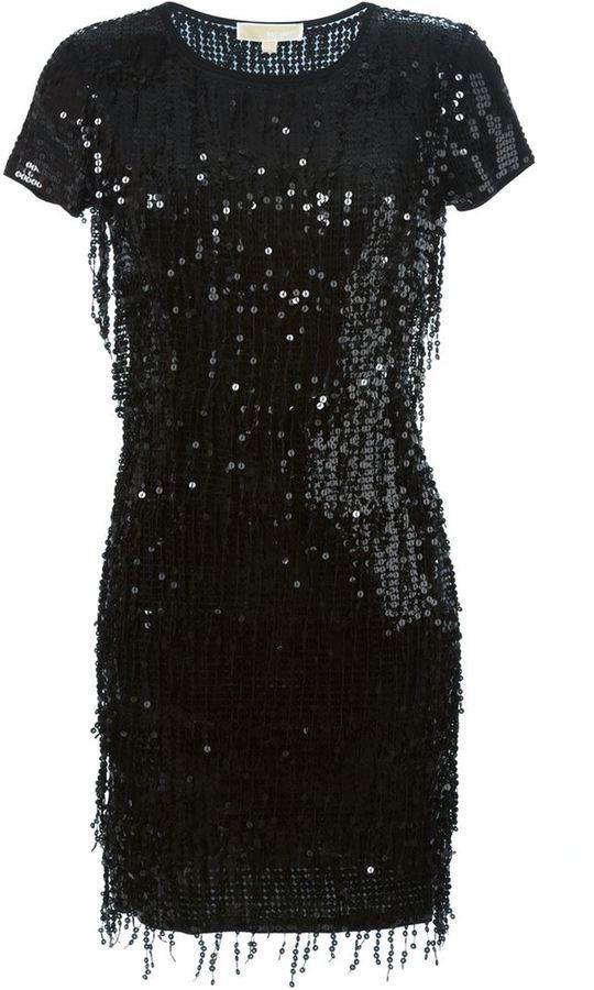 Pin for Later: Die schönsten Flapper-Kleider für jede Figur  MICHAEL Michael Kors Kleid mit Paillettenbesatz im Stil der 20er Jahre (387 €)