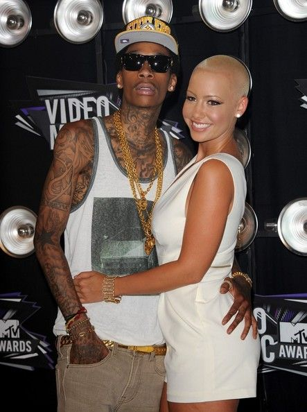 Amber Rose and Wiz Khalifa Photos - 2011 MTV Video Music Awards.Nokia Theatre L.A. Live, Los Angeles, CA.August 28, 2011. - 2011 MTV Video Music Awards