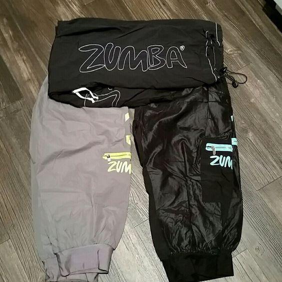 Bundle of Zumba workout pants 1 pair of long pants and 2 capri's Zumba  Pants Track Pants & Joggers