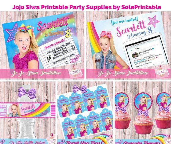 Jojo Siwa Printable Party Supplies by SolePrintable