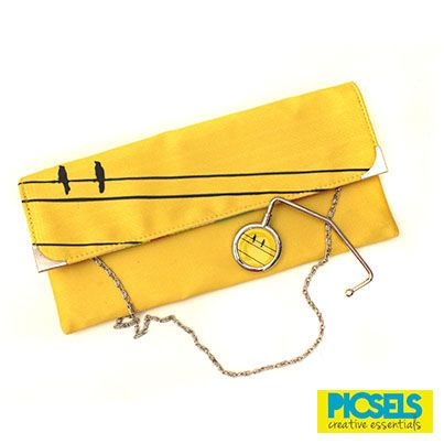 'Birds on the line' clutch with matching bag holder. For details and orders please email us at picselsce@gmail.com