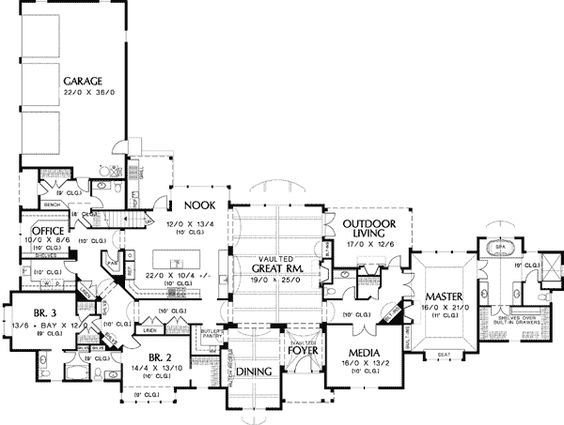 Pinterest the world s catalog of ideas for Executive ranch floor plans