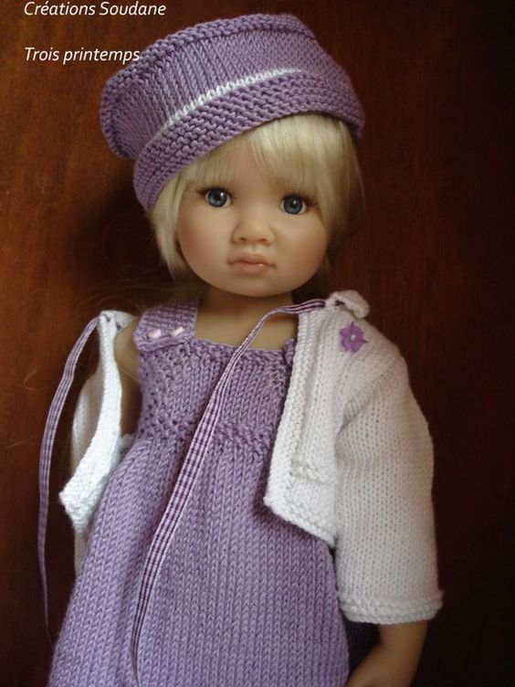 French Knitting Doll : English and french instant download pdf knitting