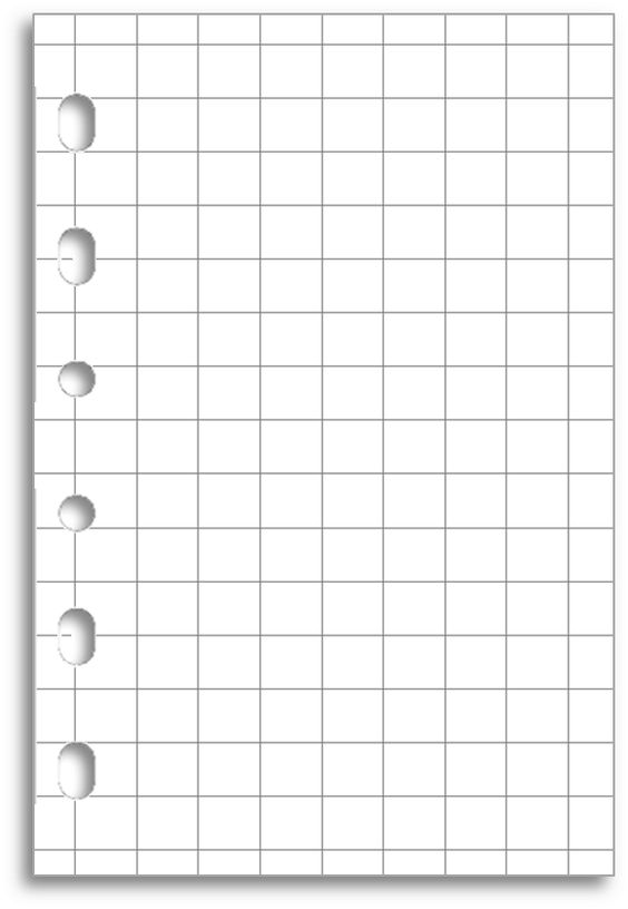 Download and print grid notepaper for your Pocket Filofax - can you print on lined paper
