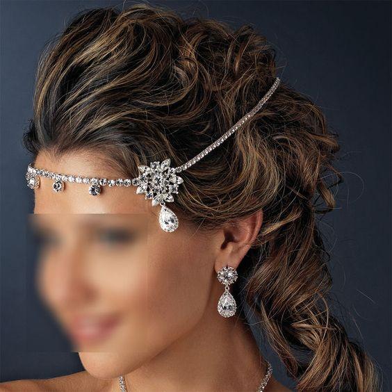 bijou de front pour mariage style oriental - Bijoux De Tete Mariage Oriental