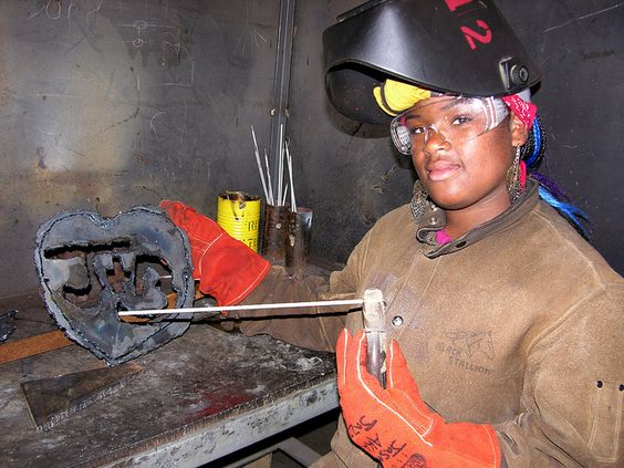 Youth ARC Welding by The Crucible Oakland, via Flickr