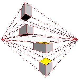 Perspectief tekenen hoe teken je in perspectief 2 punts for Kamer 3d tekenen