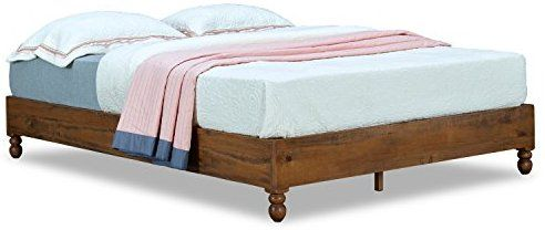 Amazon Com Musehome 12 Inch Wood Bed Frame Rustic Style