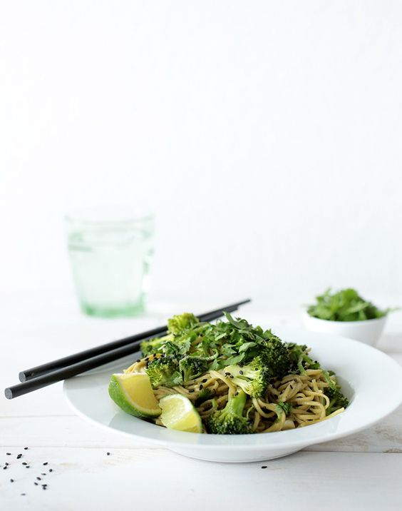 Ginger and Green Tea Soba Noodle Salad with Broccoli: