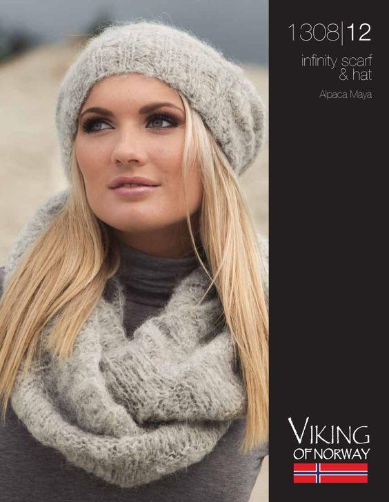 Alpaca Maya Infinity Scarf & Hat – 1308-12 | Knitting Fever Yarns & Euro Yarns