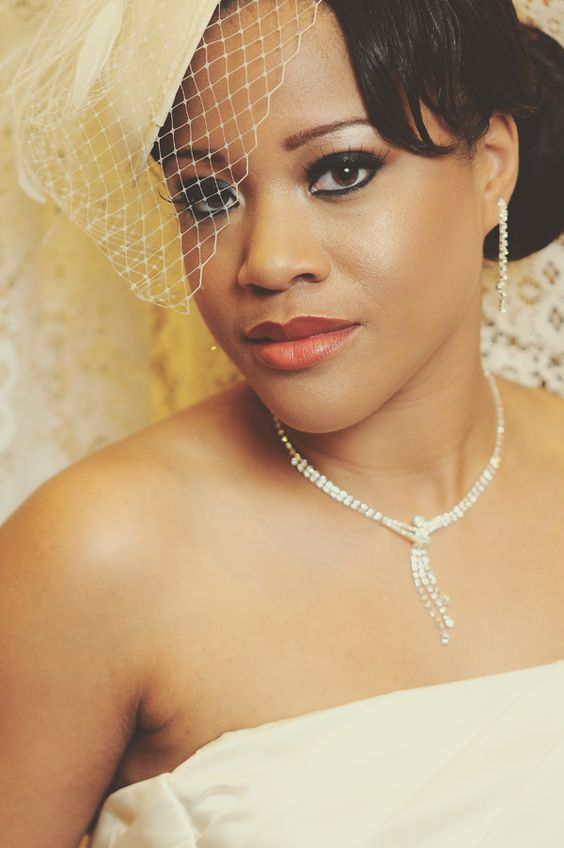 ... wedding day make up for african american brides with um to dark skin tones and dark ...