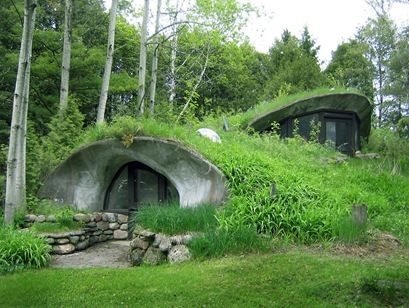 Cool design for an underground organic home.: