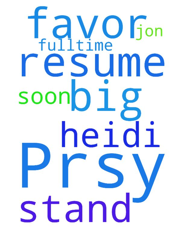 Prsy Heidi resume stand out n I get big favor n get - Prsy Heidi - get a resume