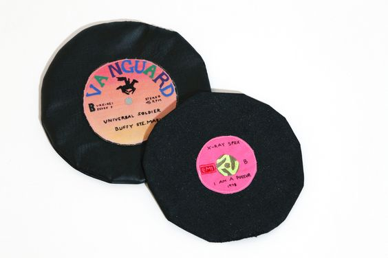 BUFFY STE. MARIE AND X-RAY SPEC SOFT 45s by MEGAN WHITMARSH