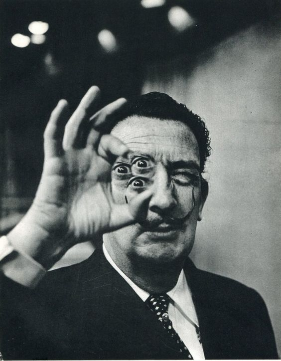by Phillipe Halsman - Dali, Four-Eyes                                                                                                                                                      Plus