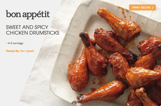 Sweet And Spicy Chicken Drumsticks Recipe — Dishmaps