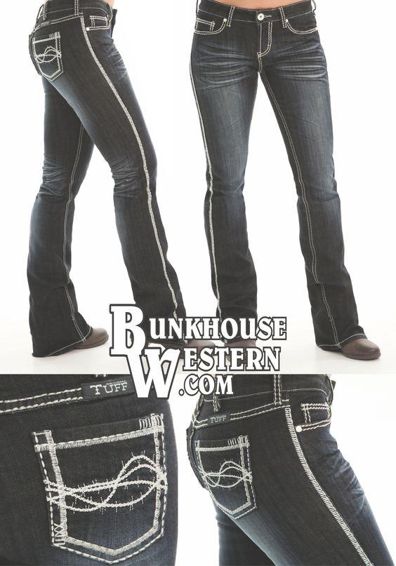 Cowgirl Tuff Co Jeans, Indigo Cream, Dark Wash Denim, No holes, Rodeo, Country Girl, Rock N Roll, Cruel Girl, Miss Me, $94.99, http://bunkhousewestern.com/INC/