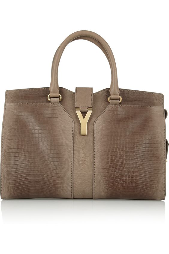 buy saint laurent bag - Yves Saint Laurent | Cabas Chyc Medium lizard-effect leather tote ...