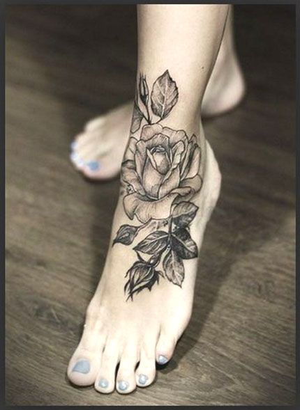 realistic rose tattoo black and white | My Dreams ...