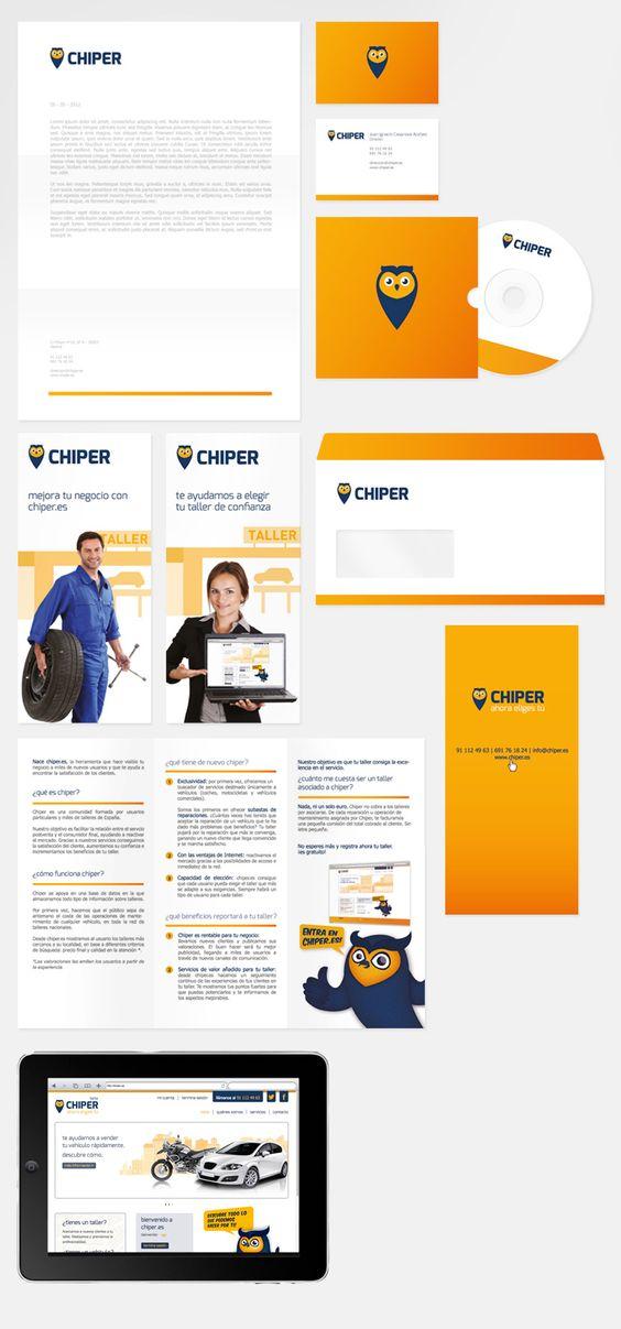 Diseño de identidad corporativa de Chiper