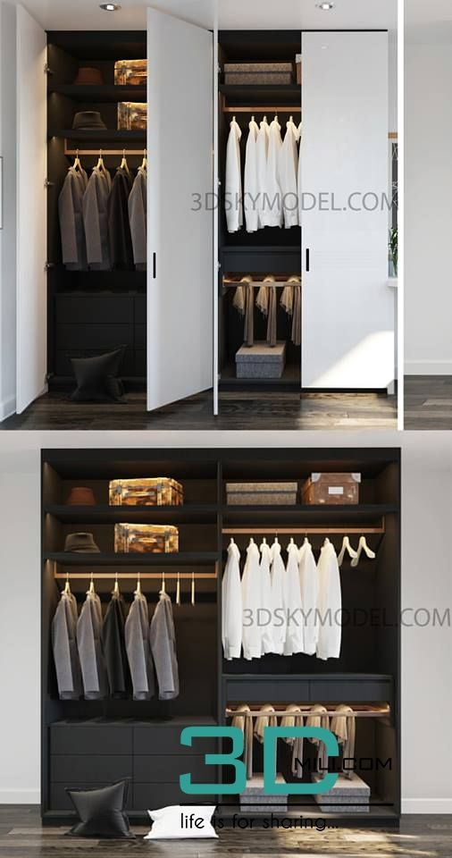 Marvelous 97 Clothes Wardrobe Model 3D Objects Model Furniture Download Free Architecture Designs Scobabritishbridgeorg